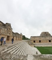 Film crew at Uxmal.