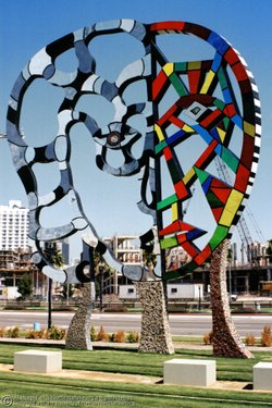 "Niki de Saint Phalle's sculpture titled ""Coming Together"" and located by the San Diego Convention Center is part of the Port District's public art collection."
