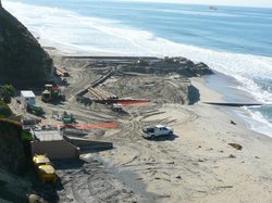 SANDAG's beach replenishment project in Fletcher Cove, Nov 2012.