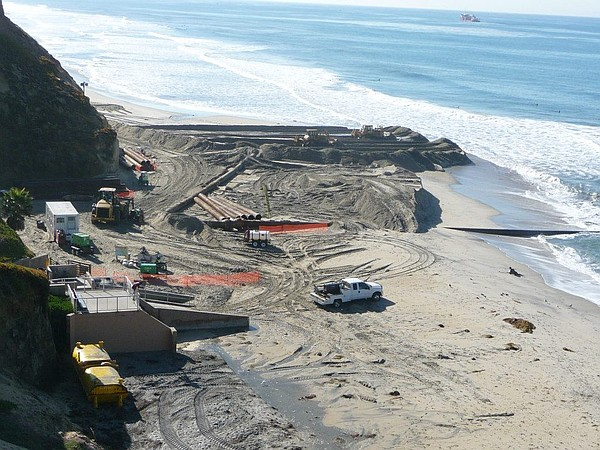 SANDAG's beach replenishment project in Fletcher Cove, No...