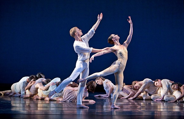 "Paul Taylor Dance Company. Laura Halzack, Michael Trusnovec, and company in ""..."