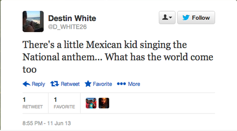 Racist Tweet against 11-year-old singer