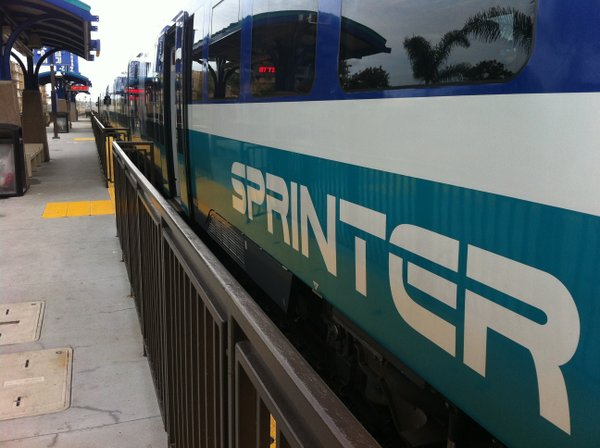 The Sprinter at Oceanside Station, 2013