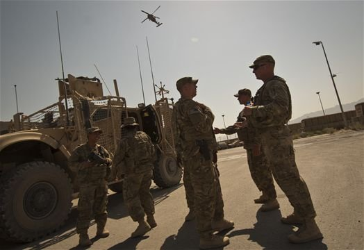 Airmen from the 455th Expeditionary Security Forces Squadron protect Bagram A...