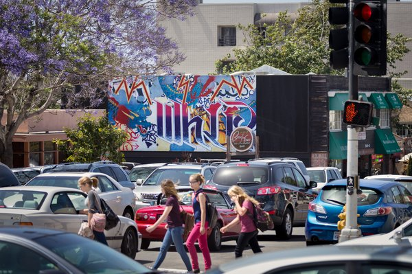 The most recent mural added to the Murals of La Jolla project. It's called