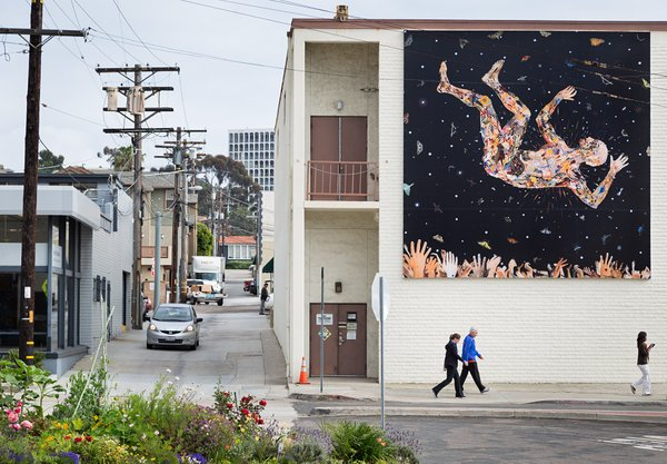 A mural by artist Fred Tomaselli on Girard Avenue in La Jolla.