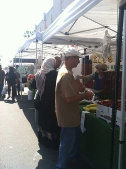 Farmer Eli Hofshi is a longtime vendor at the City Heights Farmers Market.