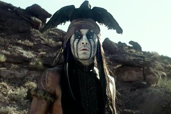 "Johnny Depp stars as Tonto in ""The Lone Ranger."""