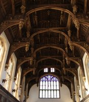 The Great Hall ceiling, Hampton Court.