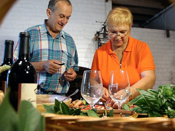 Lidia Bastianich cooks with Gabriele Rausse, Monticello Gardens and Grounds a...
