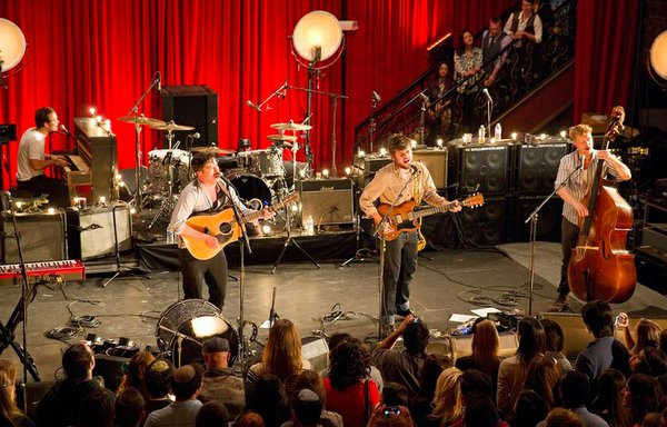 From left to right, Ben Lovett, Marcus Mumford, Winston Marshall, Ted Dwane. ...