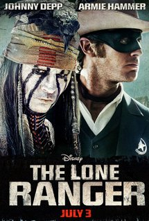 Johnny Depp as a powder-faced version of Capt. Jack Sparrow and Armie Hammer ...