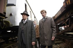 Roger Allam as DI Thursday, Jack Laskey as DS Peter Jakes and Shaun Evans as ...