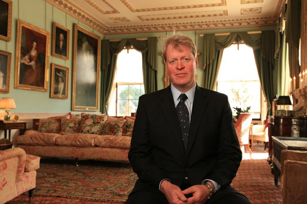 Charles Spencer, 9th Earl Spencer. Brother of Diana, Prin...