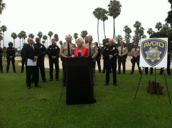 San Diego Alcohol Policy Panel Chair Person Beth Sise is joined by officers f...