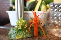Scheidt's garnish creations always lure people to his booth. Here he's made a...