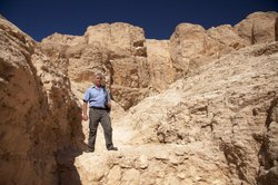 Steve Cross, geologist in Valley of the Kings.