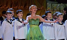 "Soprano Daniela Fally and the Vienna Boys' Choir perform ""Little Brother and Sisters"" from the operetta ""Die Fledermaus."""