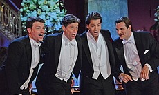 "Gergely Boncser, Karoly Peller, Daniel Serafin and Tilmann Unger perform ""How to Handle a Woman?"" from the operetta ""The Merry Widow."""