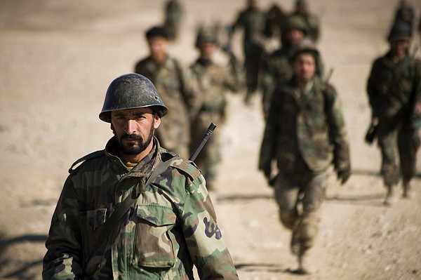 Afghan Army recruits