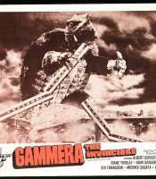 "Lobby card for ""Gamera's"" U.S. release."