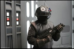 An Imperial Gunner in costume.