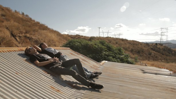 Garrison and Kevin on the roof.
