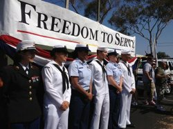 Military contingent at San Diego Pride parade