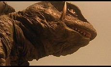 A closer view of Gamera, the flying space turtle.