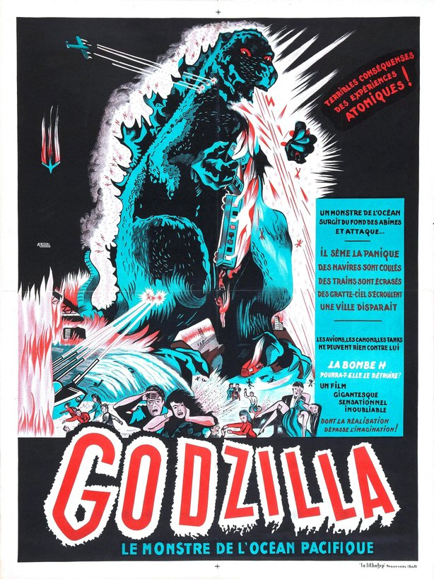 "French poster for ""Goszilla."""