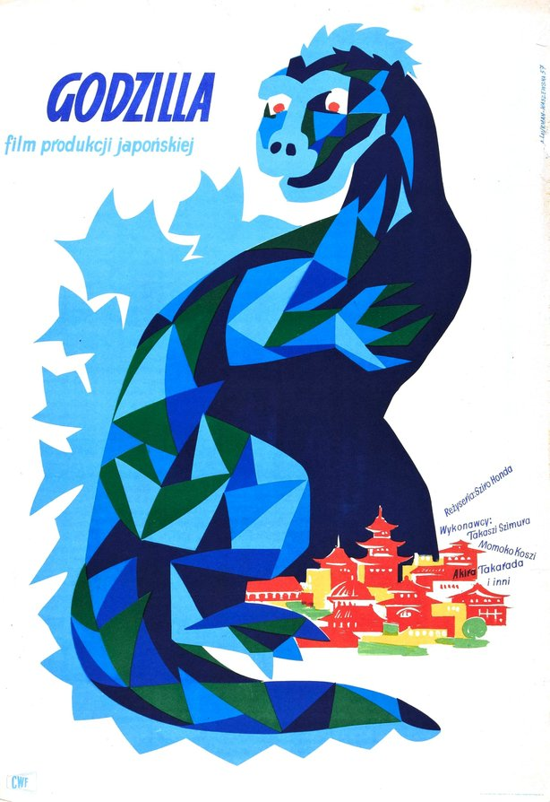 "Polish poster for the original ""Gojira."""