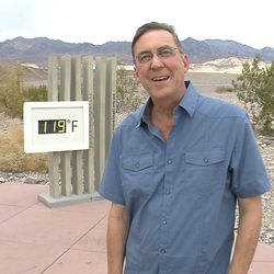 Christopher Burt experiences some of the triple-digit weather he's spent year...