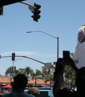 Larger-than-life blow-up displays represent same-sex marriages at the San Diego Pride Parade, July 13, 2013.