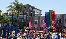 The San Diego Pride Parade drew crowds along University Avenue in Hillcrest, July 13, 2013.