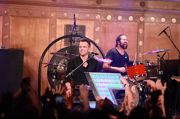 Brandon Flowers and Ronnie Vannucci, Jr. from The Killers...