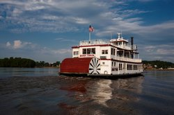 Mark Twain Riverboat on the Mississippi River.