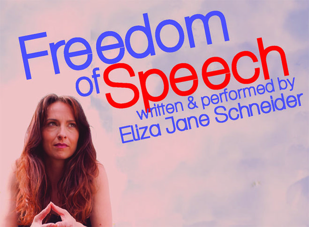 "Eliza Jane Schneider, writer, actress, stars in a one-woman show, ""Freedom of..."