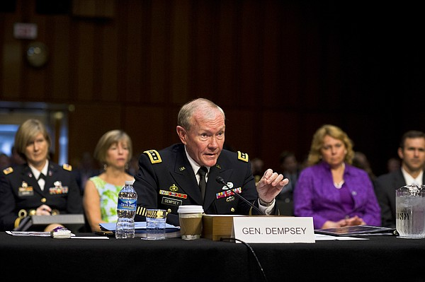 Army Gen. Martin E. Dempsey, chairman of the Joint Chiefs of Staff, testifies...