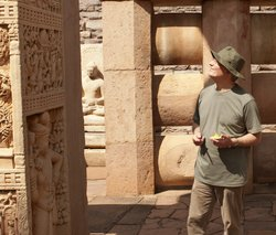Author Charles Allen at the great Ashokan Stupa at Sanchi, near Bhopal.