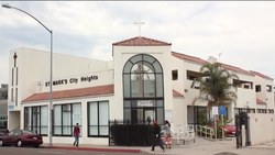 St. Mark's City Heights relocated to this facility on Fairmount Avenue in 1998 after the city and Price Charities developed the City Heights Urban Village where the old church was located. The development aimed to quell violence and spark economic growth in the community.