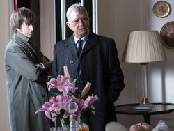 Lee Ingleby as Detective Sergeant Bacchus with Martin Shaw as Chief Inspector George Gently.
