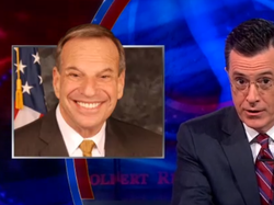 The Colbert Report included the developing story about sexual harassment alle...