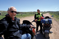 These two old friends, Buddy Rosenbaum and Bob Chase, have ridden motorcycles...