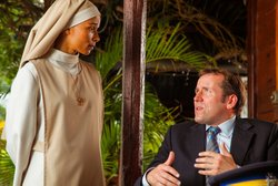 Rowena King as Sister Marguerite and Ben Miller as DI RIchard Poole.
