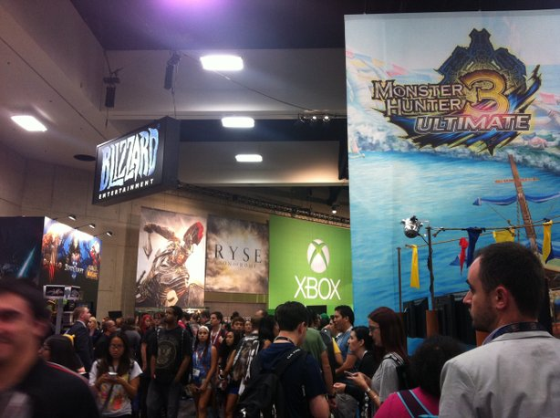 Video gaming finds a new home in Exhibit Hall A this year at Comic-Con.