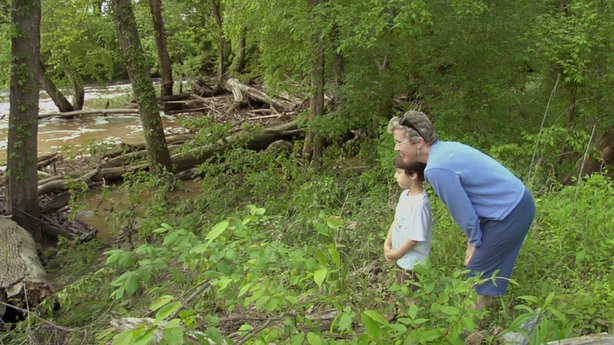 Paula and Coby take a nature hike.