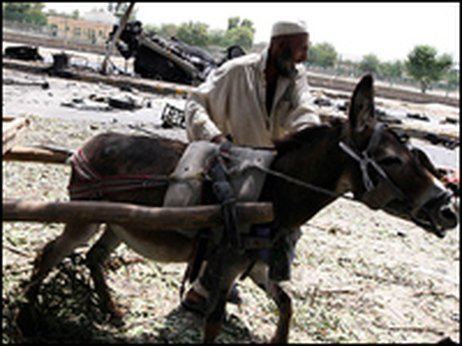 Afghan man with donkey in 2008