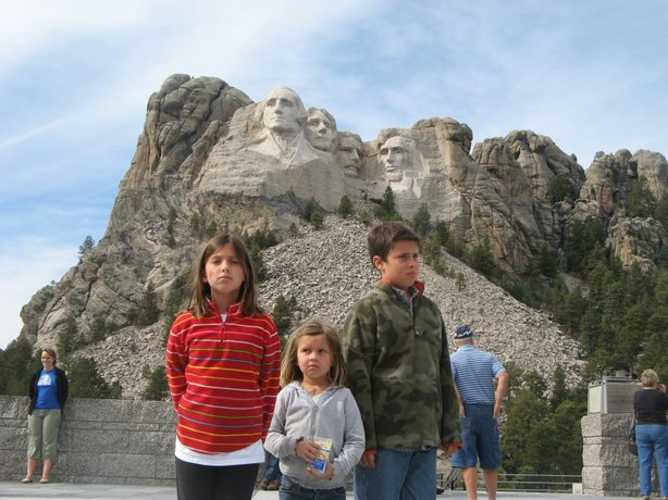 Lilly, left, Sammy and Jackson Breuner at Mount Rushmore in 2008.