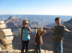 Lilly, left, Sammy and Jackson Breuner at Grand Canyon National Park in 2008.