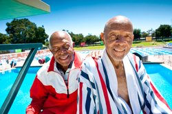 John and Bradford Tatum, 88- and 90-year-old swimmers.
